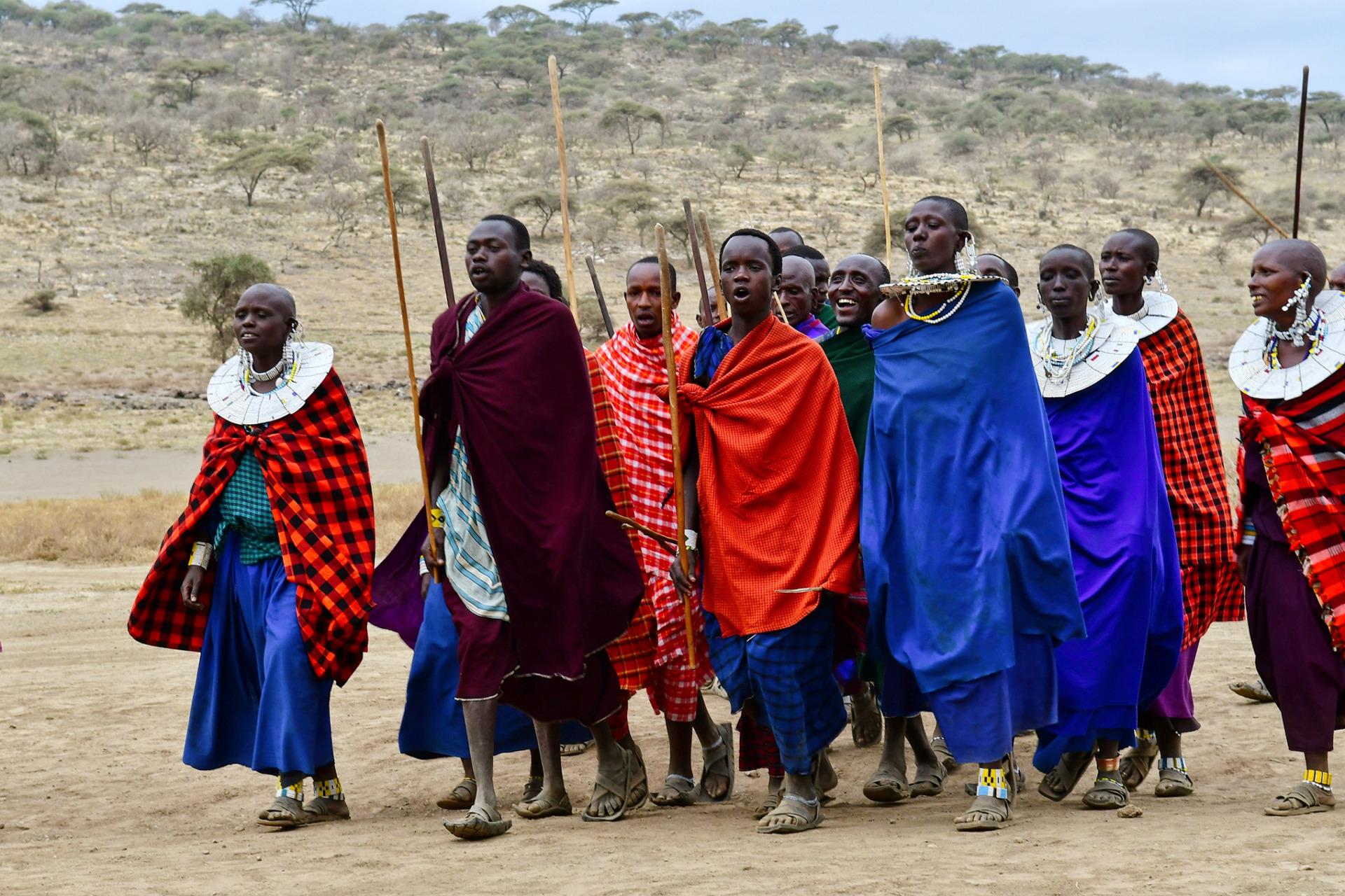 Langs de Afrikaanse Evenaar masai