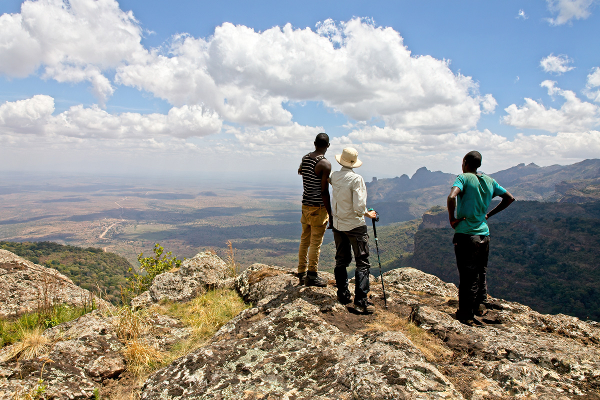 Gezicht vanaf Mount Kadam op Nakapiripirit en Karamoja - Mount Kadam FR